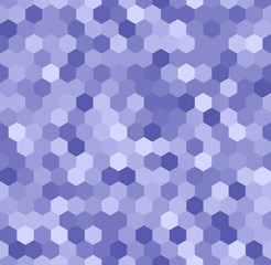 Hexagonal seamless pattern in the shades of blue. Vector illustration suitable for technical topics or wallpaper.