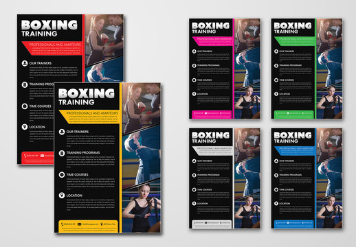 Boxing Gym Workout Flyer Layout
