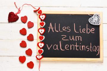 """""""Alles liebe zum valentinstag"""" painted by chalk"""