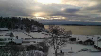 Kolmården, Bråviken, Sweden, winter landscape