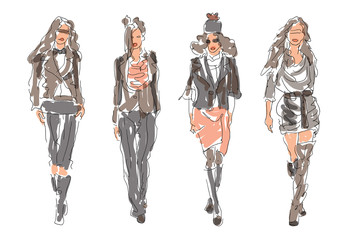 Sketch Fashion Women
