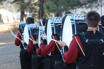 Marching band bass drums