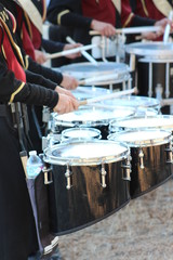 Marching band tenor and snare drums
