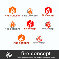 fire concept logo, image of flames