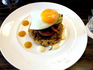 Fancy breakfast egg yolk