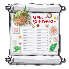 menu sukiyaki drawing graphic  design objects