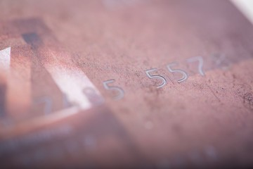 Credit card in close up