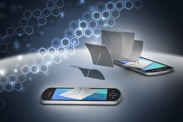 e-mail sharing between smart phone