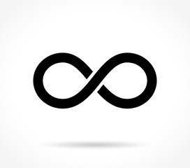 infinite icon on white background
