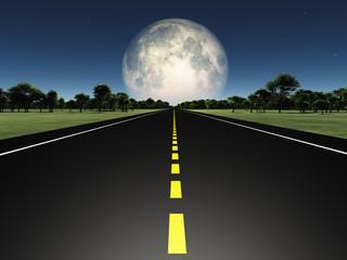 Empty road in deep solitude