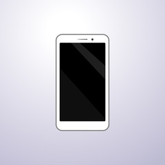 phone isolated on grey vector design
