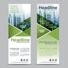 Greenery Roll up layout template mock up. flag flyer banner backdrop design. vector illustration background