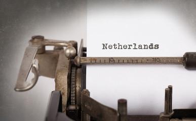 Old typewriter - the Netherlands