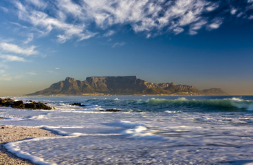 scenic view of table mountain from blouberg cape town