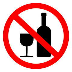 Fototapeta znak zakaz spożywania alkoholu obraz