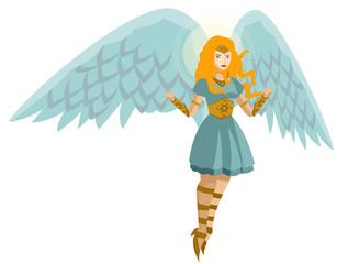 beautiful woman angel flying