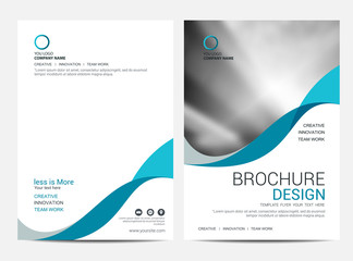 Brochure template flyer background for business design Wall mural