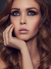 sensual beauty girl with make-up