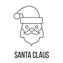 Santa Claus icon or logo line art style
