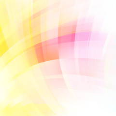 Abstract pastel background with smooth lines. Color waves, pattern, art, technology wallpaper, technology background. Vector illustration. Pink, white, yellow colors