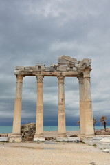 Re-erected five columns. Temple of Apollo in Side-Pamphylian coast-Turkey. 0042
