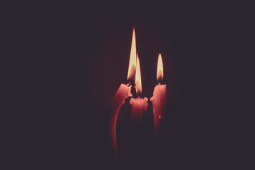 Candle light on cinematic tone