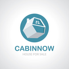 Cabin house icon logo