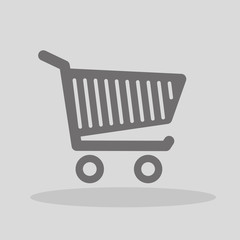 Vector shopping cart icon, wózek zakupowy,