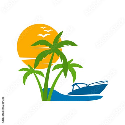 boat travel  island  b...