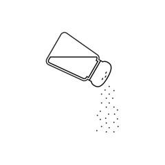 Vector salt shaker, thin lines icon