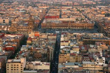 Aerial view of Mexico City, Mexico