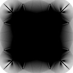 Deformed monochrome pattern. Abstract geometric distorted elemen