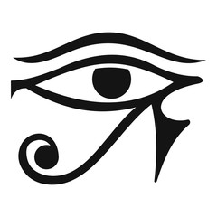Eye of Horus Egypt Deity icon, simple style