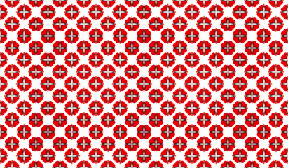 Seamless design mosaic of colorful tiles pattern in red white an