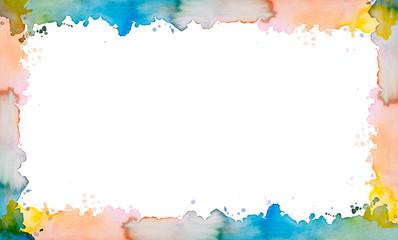 Rahmen aus Aquarell mit Aquarellfarben gemalt