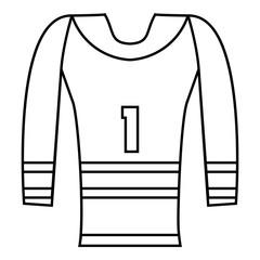 Hockey armor icon, outline style