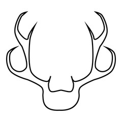 Deer antler icon, outline style