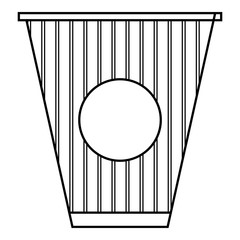 Cup of coffee icon, outline style