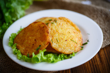 fried potato pancakes with dill