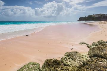 Tropical beach on the Caribbean island (Crane beach, Barbados)