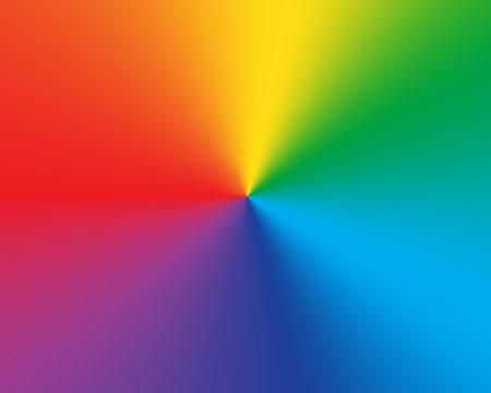 Radial gradient rainbow background