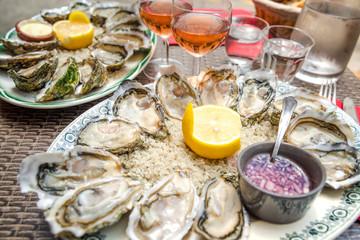 Oyster dish, Paris, France