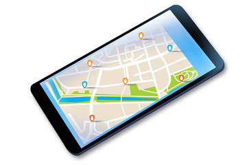 Fototapeta Mobilna nawigacja GPS na tablecie. obraz