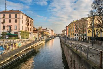 Naviglio Grande, Milano, Italia