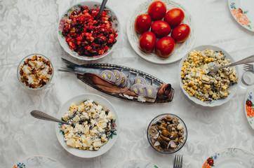 Festive table tasty