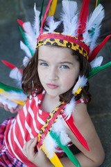 Indian Girl in headdress