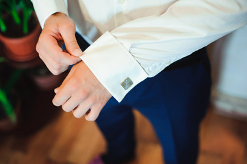 wedding details - elegant groom dressed wedding tuxedo costume i