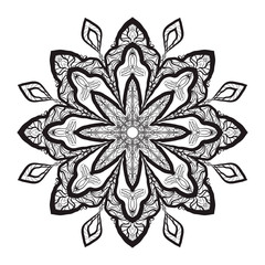 Mandala Coloring Illustration2