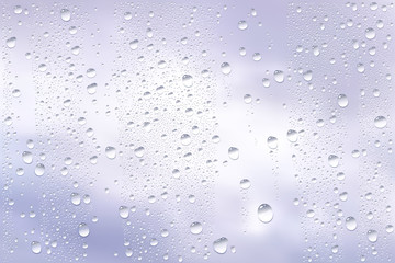 Raindrops Trough Window