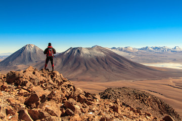 "Licancabur volcano from the ""Toco"" hill. Chile."
